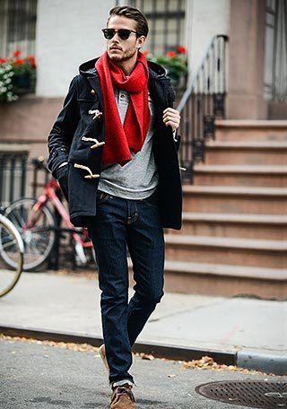黒ダッフルコート×ジーンズの着こなし【冬】|ビタ男必見!ビター系メンズセレブファッション情報サイト「Atractivo」
