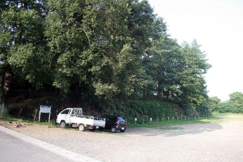加納城/②本丸南の堀跡が駐車場
