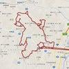GPS地上絵20「踊場サムアップ熊【模写】」(GPS drawing)の画像