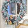 ユーカリとピンクペッパーベリーのクリスマスリースをお店にUPしました!の画像