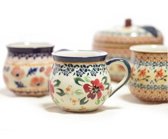 ポーリッシュポタリー 花柄 マグカップ