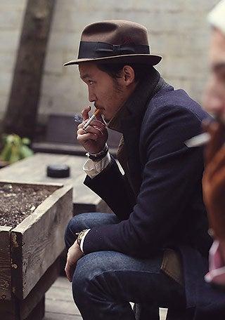 フェルトハットでオシャレな冬の着こなし|ビタ男必見!ビター系メンズセレブファッション情報サイト「Atractivo」