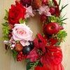 オーダーでお作りしました♪情熱の赤いバラのリースの画像