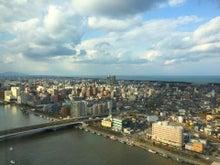 ホテル日航新潟より新潟市内を一望