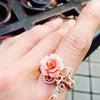 新入荷:ピンクシェルの薔薇の画像