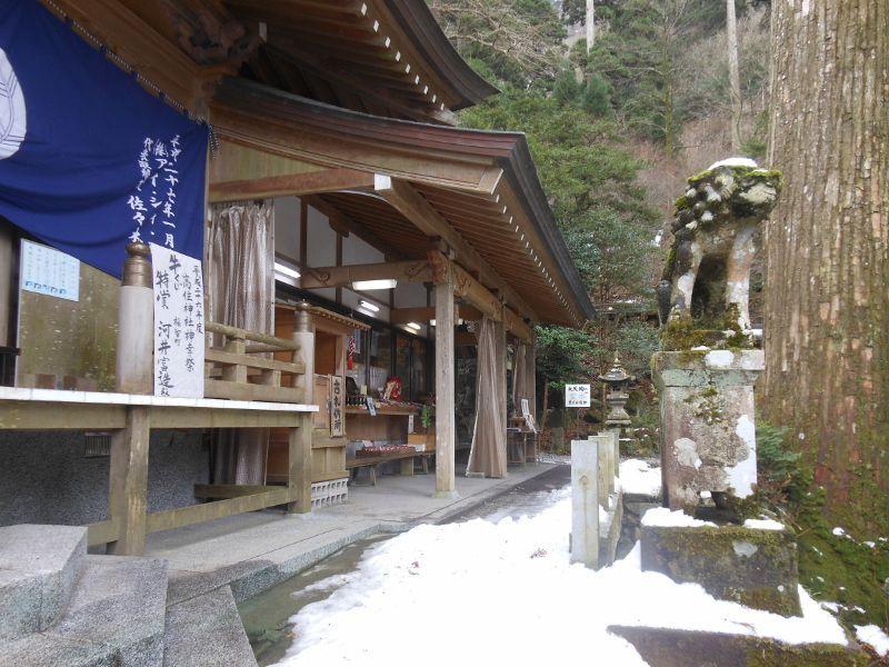 今年2回目となる高住神社の銀世界