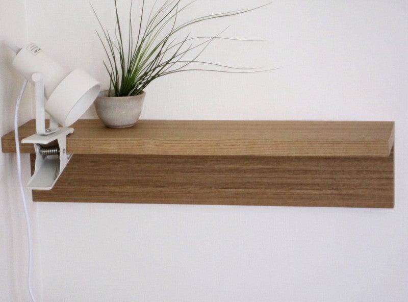 壁に付けられる家具・棚・幅44cm・タモ材/ナチュラル 幅44×奥行12×高さ10cm