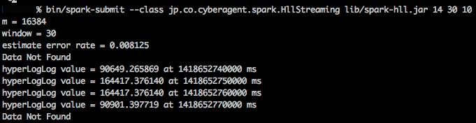 Spark Streamingの標準出力