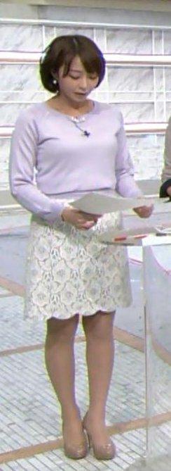 ミニスカート姿の宇垣美里さん