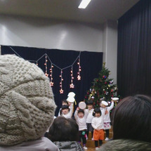 保育園のクリスマス会…