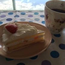 朝からケーキ