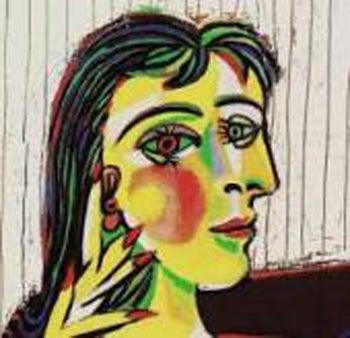 あの有名な画家ピカソが花嫁さまにボディジュエリーアートをほどこしたら