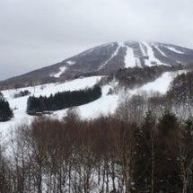 今朝の安比高原スキー…