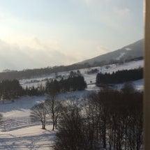 安比高原の朝。昨日と…