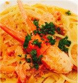 蟹のトマトクリームソース
