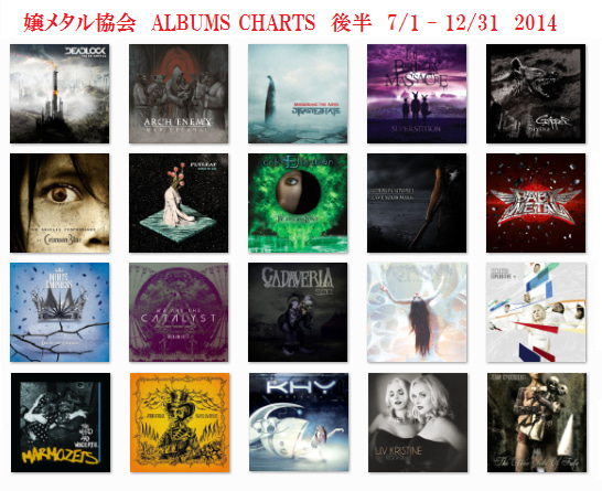 2014 Albums Charts 後半戦