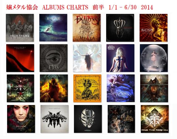 2014 Albums Charts 前半戦