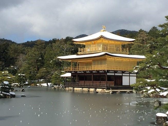 雪化粧の金閣寺 1月3日