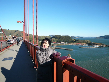 Golden Gate Bridgeの橋の欄干
