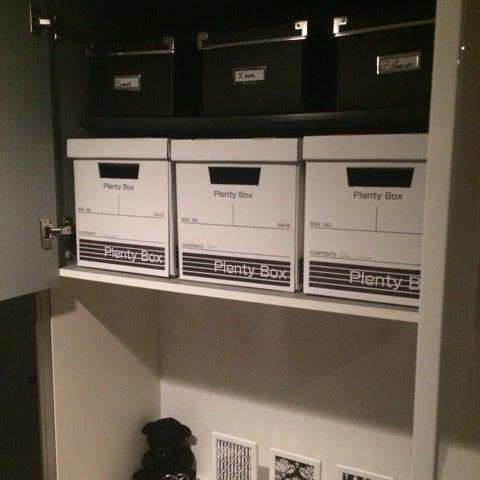 【靴箱上部の収納】IKEAとセリアのBOXでインテリア雑貨を収納