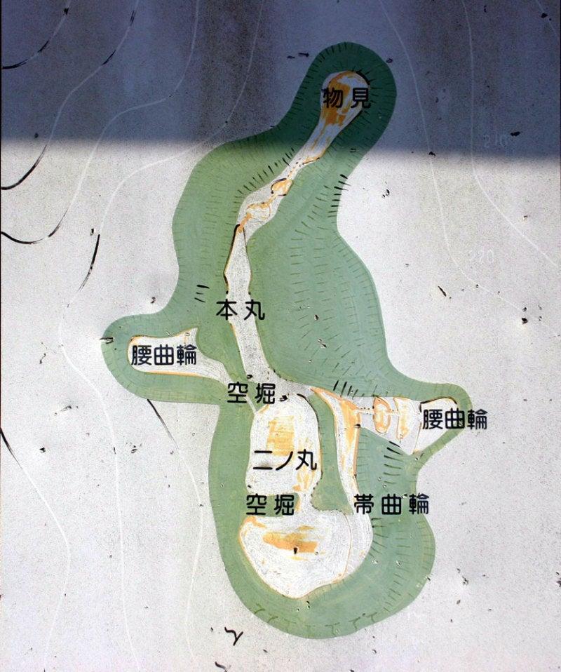 御嵩城(本陣山城)/②現地案内図