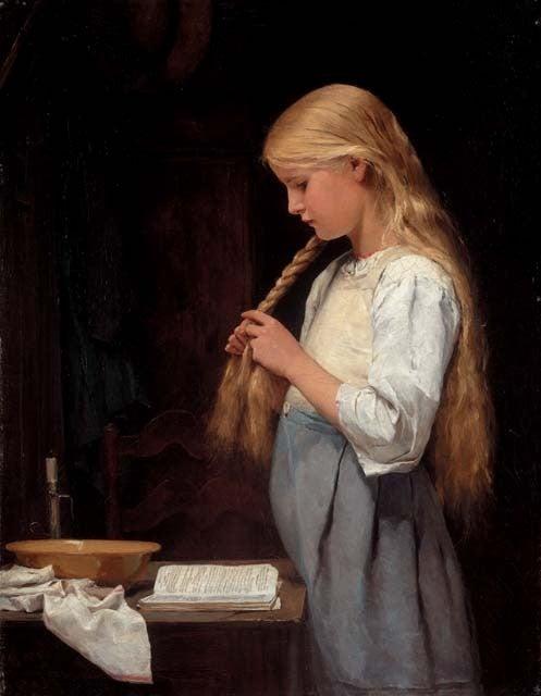 「髪を編む少女」の画像検索結果