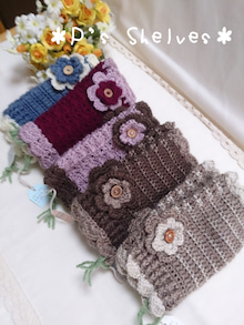 編み編みハンドウォーマー