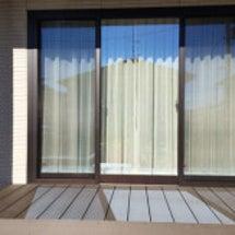 3枚窓のカーテン