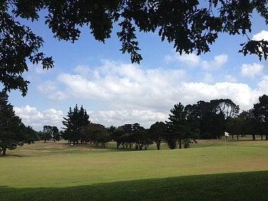 チャンバレインパークゴルフ場 18番グリーン