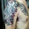 刺青★Dragon(胸~腕)背景!の画像