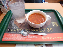 タコと野菜のトマトクリームスープ1