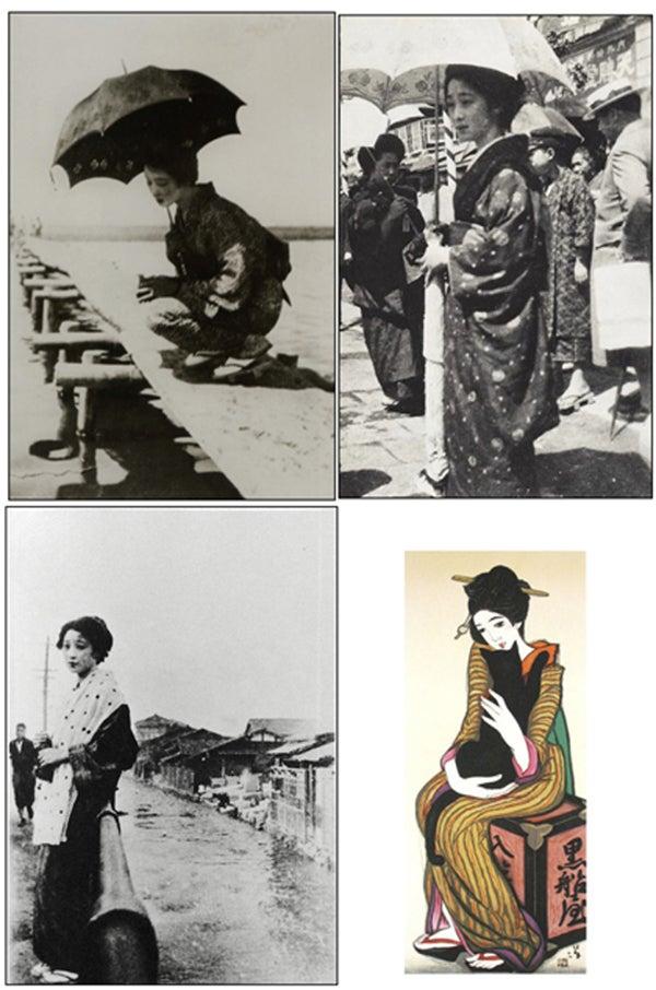 ダリの高島の着物の国から徒然と成人式にはフィンガーウェーブ。夢二の恋人お葉さんのイメージで。コメント