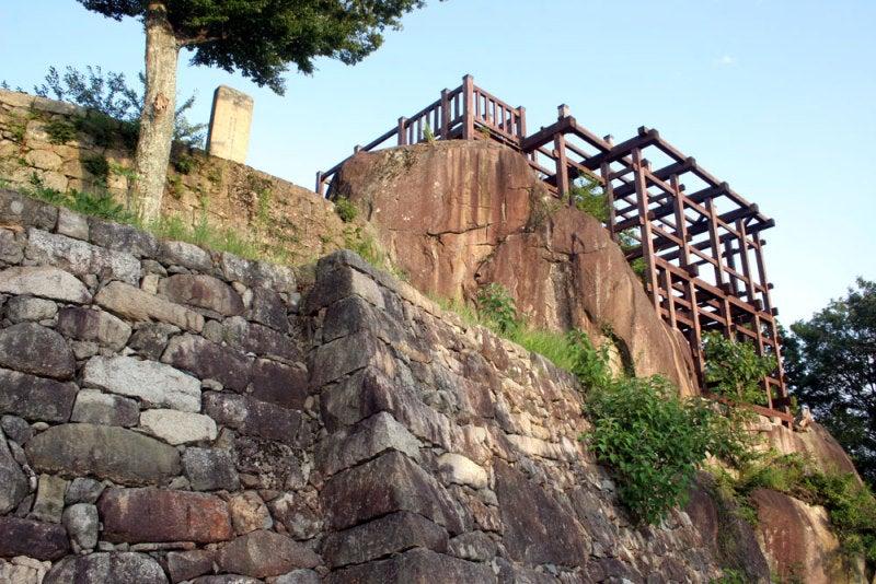 苗木城/⑦天守跡にある展望台