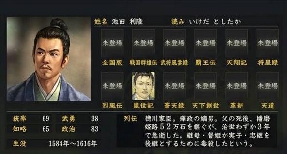 池田利隆 (いけだ としたか) |...
