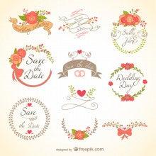 そんな中、結婚式素材もある無料のサイト見つけました!! 知っている方もいらっしゃると思いますが・・・ freepikというサイト→★  こんな可愛いのが♡早速使います(