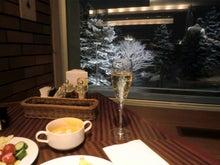 雪景色&シャンパン