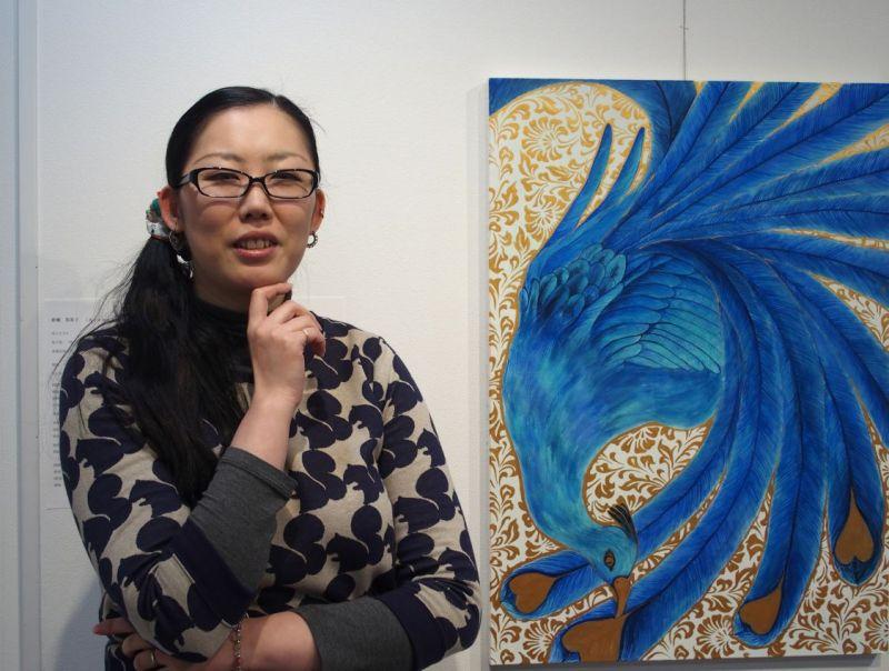 ♪若手日本画家の新槇英美子さんを紹介します!