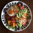 サラダと菜の花パスタ…