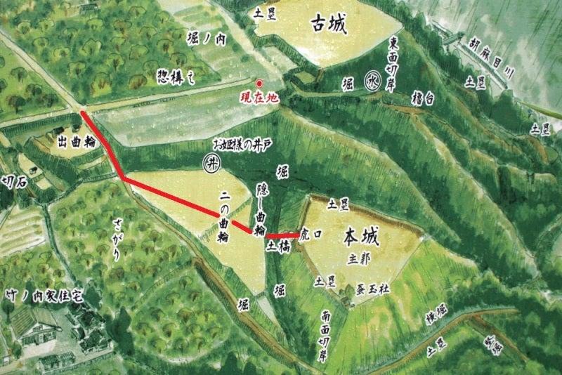 吉田城/③案内図