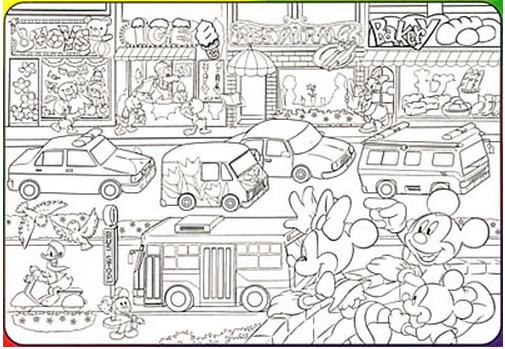 ジグソー ディズニー ぬりえチャイルドパズル のりものだいすき 40ピース(DCN,40,80.