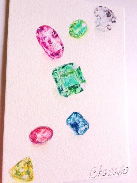 宝石描き 水彩色鉛筆 Chocolala ショコララ魔女ッ子雑貨 ドール