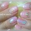 春色ピンクでシュガーネイル♪の画像
