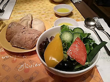 ロクシタンカフェのサラダ