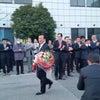 退任式と登庁式と中村文昭氏の画像