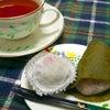手作り桜餅とイチゴ大福の画像