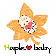 Maple♡baby ロゴ
