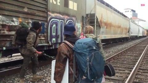 貨物列車に飛び乗り!?トレインホッピング! | ジョー オフィシャルブログ「CRAZY CHALLENGER !」Powered by Ameba