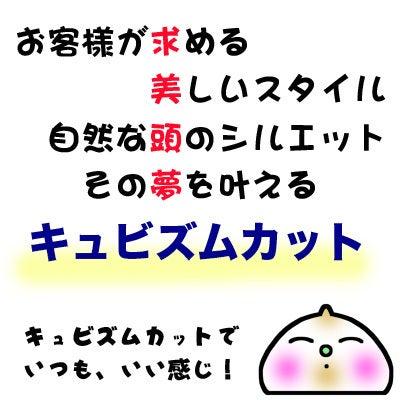 今回で3回目のキュビズムカット®☆の記事より