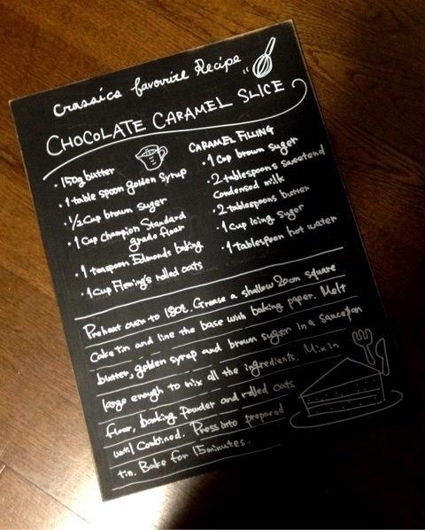 簡単 雑貨づくり☆黒板風レシピボードをつくりました☆|mono.coto. ものづくりとデザインのある暮らし