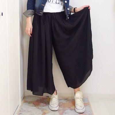 【OMEKASI オメカシ】スカートみたいなワイドパンツ☆ふわっとしてかわいい